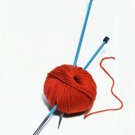 yarn and knitting needles