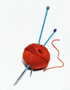 yarn and knitting needles