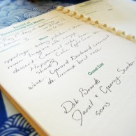 organizing menus